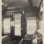 Photograph showing interior of Pullman-built lounge car